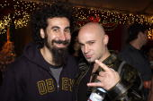 Serj Tankian David Draiman during 2002 KROQ Almost Acoustic Christmas at Universal Amphitheatre in Universal City California United States