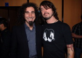 Serj Tankian of System of a Down and Dave Grohl of the Foo Fighters
