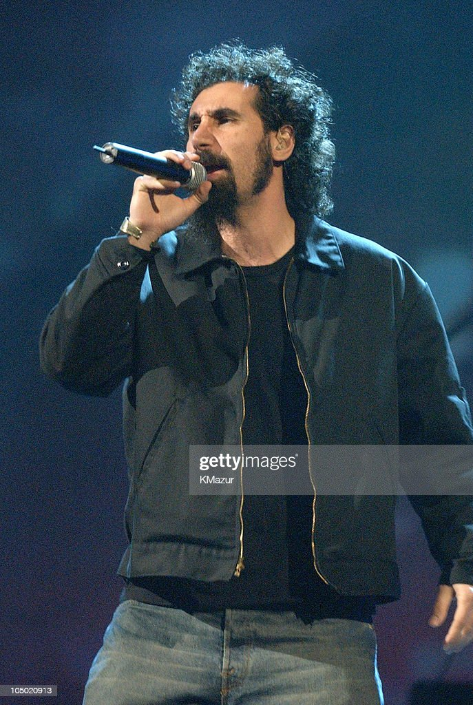 Serj Tankian of System of a Down during MTV Video Music Awards Latinoamerica 2002 Rehearsals Day 2 at Jackie Gleason Theater in Miami Florida United...