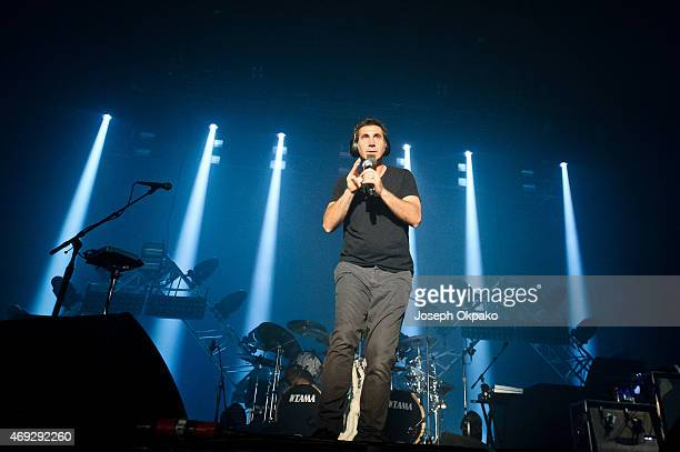 Serj Tankian of System Of A Down performs at SSE Arena Wembley on April 10 2015 in London United Kingdom