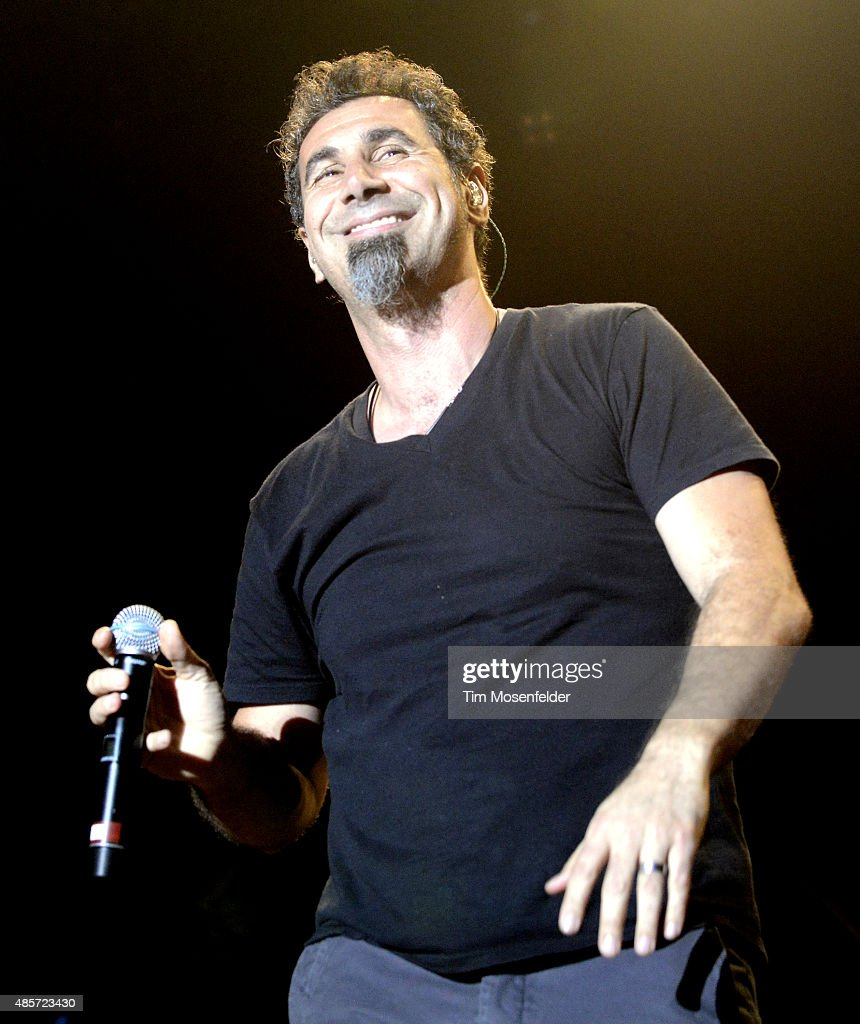 Serj Tankian of System of a Down performs during Riot Fest at the National Western Complex on August 28 2015 in Denver Colorado