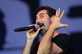 Serj Tankian of System of a down performs live on the main stage during day one of Reading Festival at Richfield Avenue on August 23 2013 in Reading...