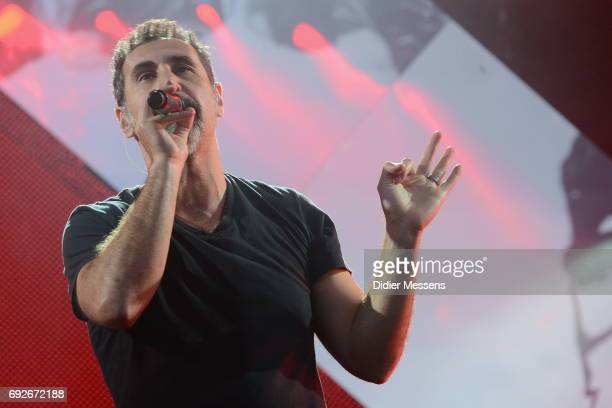 Serj Tankian of the band System of a Down performs on stage during day 3 of the Pinkpop festival on June 5 2017 in Landgraaf Netherlands