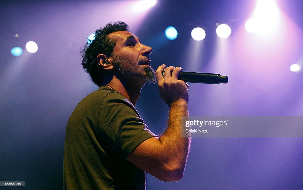 <a gi-track='captionPersonalityLinkClicked' href=/galleries/search?phrase=Serj+Tankian&family=editorial&specificpeople=213215 ng-click='$event.stopPropagation()'>Serj Tankian</a> performs at O2 Shepherd's Bush Empire on October 7, 2012 in London, England.