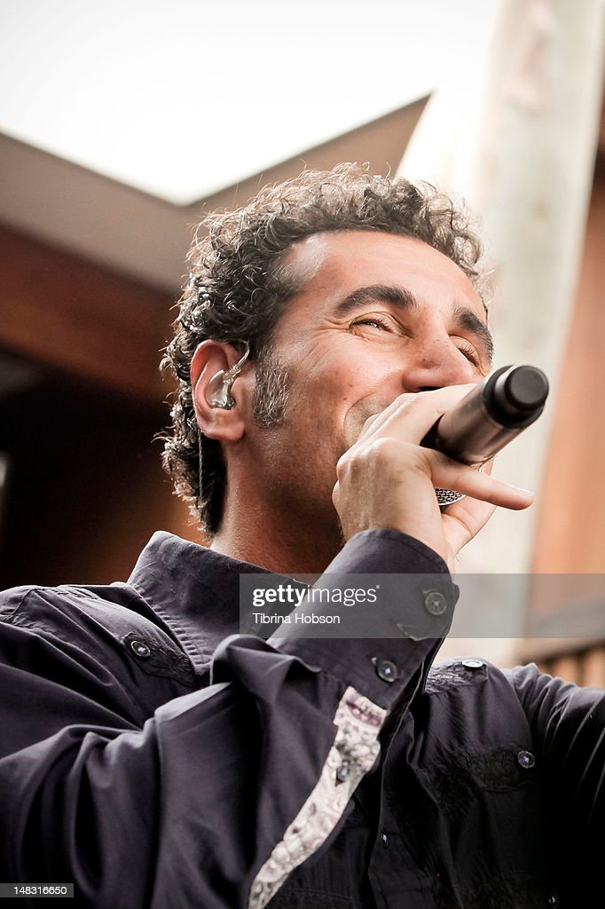 <a gi-track='captionPersonalityLinkClicked' href=/galleries/search?phrase=Serj+Tankian&family=editorial&specificpeople=213215 ng-click='$event.stopPropagation()'>Serj Tankian</a> performs at Warner Bros. Records' Summer Sessions on July 13, 2012 in Burbank, California.
