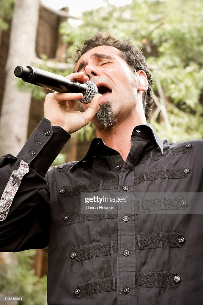 Serj Tankian performs at Warner Bros. Records' Summer Sessions on July 13, 2012 in Burbank, California.