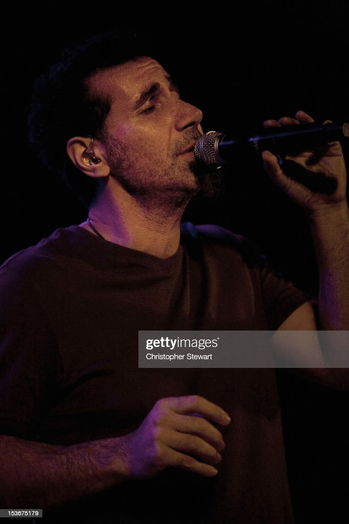 Serj Tankian performs on stage at Manchester Academy on October 8, 2012 in Manchester, United Kingdom.