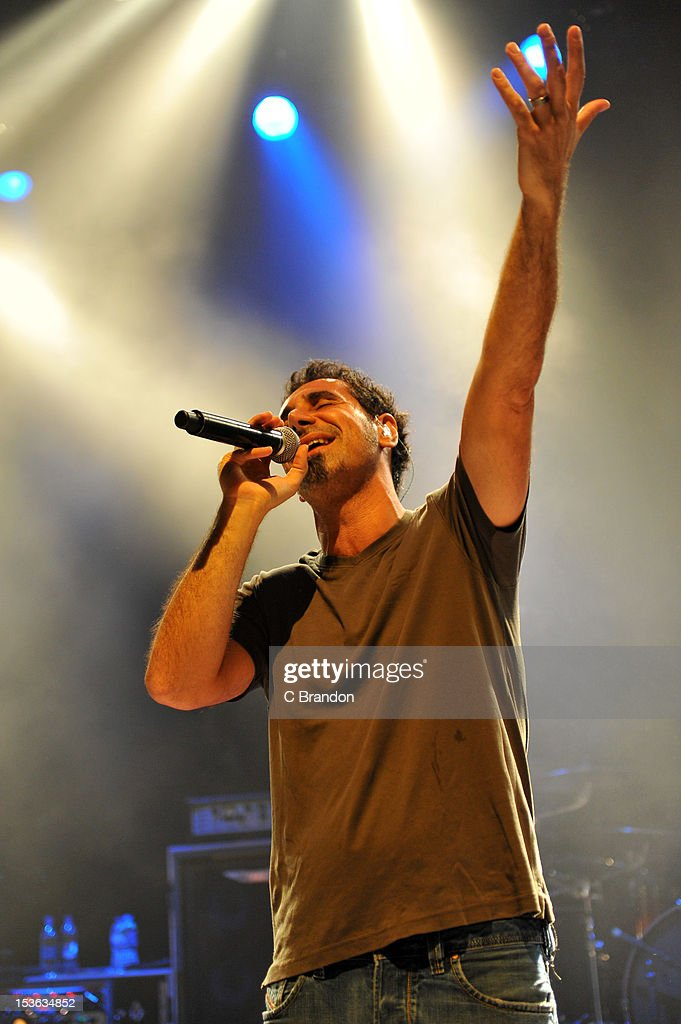 Serj Tankian performs on stage at Shepherds Bush Empire on October 7, 2012 in London, United Kingdom.