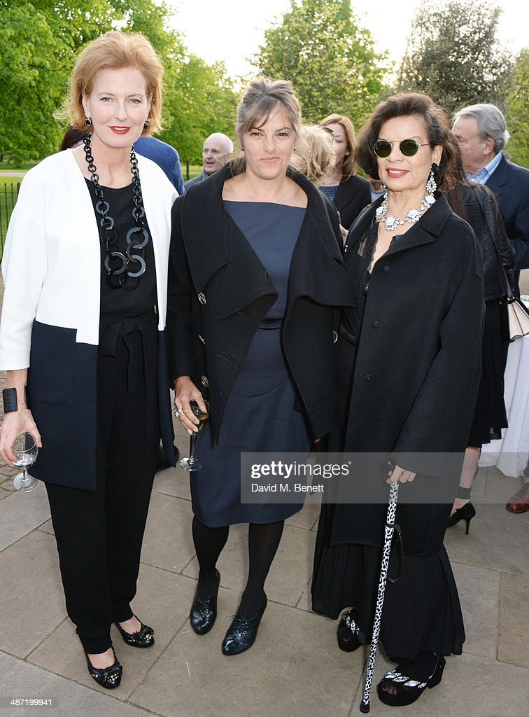 Serpentine Gallery Co-Director <a gi-track='captionPersonalityLinkClicked' href=/galleries/search?phrase=Julia+Peyton-Jones&family=editorial&specificpeople=2130494 ng-click='$event.stopPropagation()'>Julia Peyton-Jones</a>, <a gi-track='captionPersonalityLinkClicked' href=/galleries/search?phrase=Tracey+Emin&family=editorial&specificpeople=203219 ng-click='$event.stopPropagation()'>Tracey Emin</a> and <a gi-track='captionPersonalityLinkClicked' href=/galleries/search?phrase=Bianca+Jagger&family=editorial&specificpeople=216047 ng-click='$event.stopPropagation()'>Bianca Jagger</a> attend the launch of 'Serpentine', a new fragrance by The Serpentine Gallery and fashion house Commes des Garcons featuring bottle artwork by Trace Emin, on April 28, 2014 in London, England.