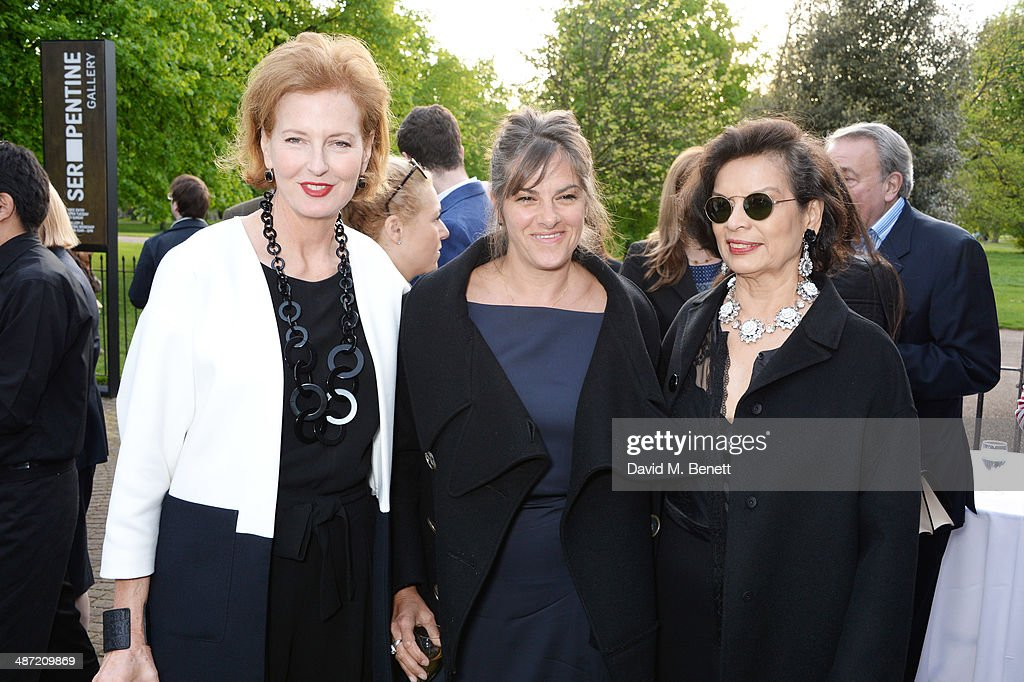 Serpentine Gallery Co-Director Julia Peyton-Jones, Tracey Emin and Bianca Jagger attend the launch of 'Serpentine', a new fragrance by The Serpentine Gallery and fashion house Commes des Garcons featuring bottle artwork by Trace Emin, on April 28, 2014 in London, England.