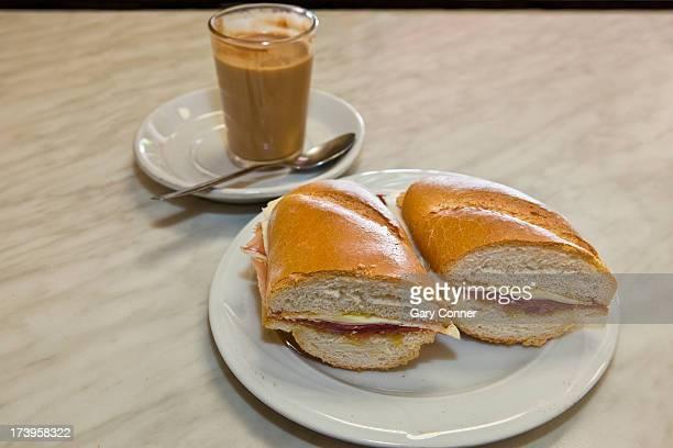 Serrano ham and cheese sandwich