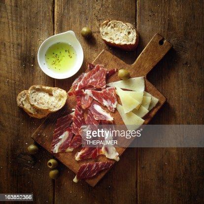 serrano ham and tapas