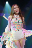 Serri of South Korean girl group Dal Shabet performs onstage during the Mnet 'M CountDown' at CJ EM Center on June 20 2013 in Seoul South Korea