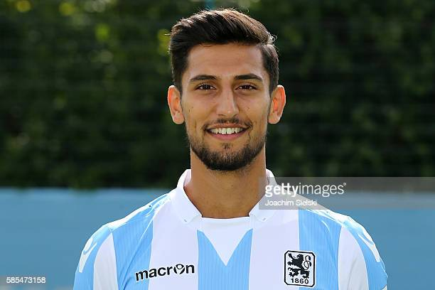 Sertan Yegenoglu poses during the official team presentation of TSV 1860 Muenchen at Trainingsgelaende on July 22 2016 in Munich Germany