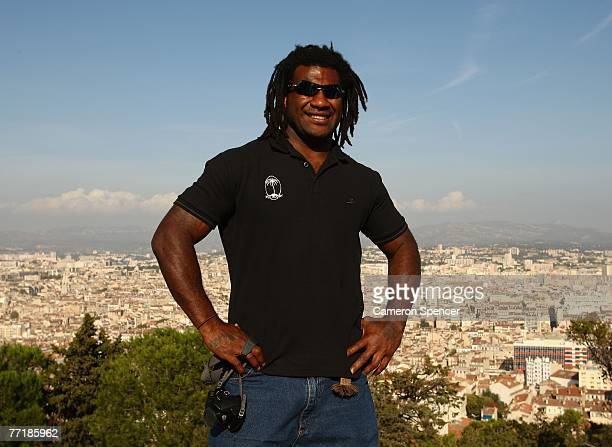 Seru Rabeni of Fiji poses for a photo at the Basilique NotreDame de la Garde October 4 2007 in Marseille France