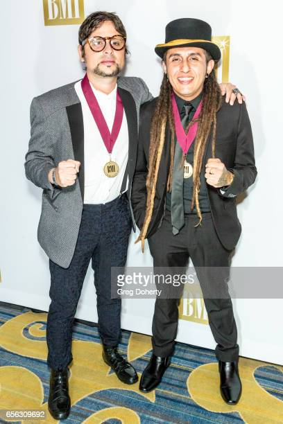 Servando Moriche Primera Mussett and Patrick Ingunza attend the 24th Annual BMI Latin Awards at the Beverly Wilshire Four Seasons Hotel on March 21...