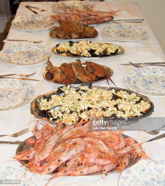 Served foods with decorative of christmas