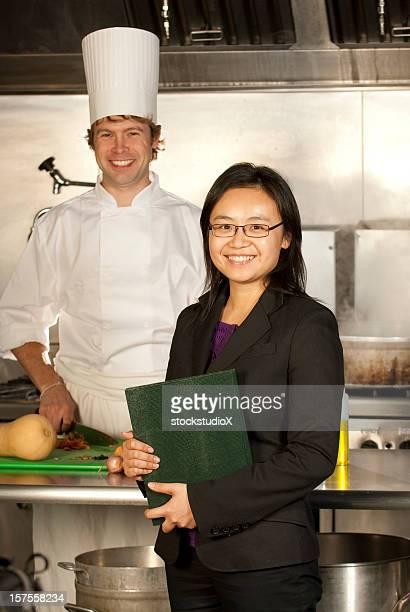 Server und Chefkoch