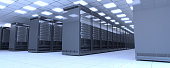 Data center / Server room interior design ( 3d render )