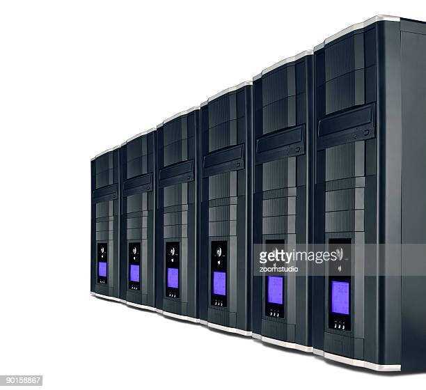 PC servers in a row