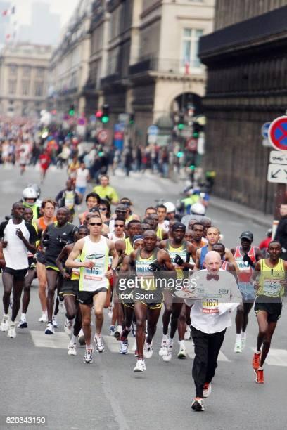 Serveur en tete de course 32e Marathon de Paris