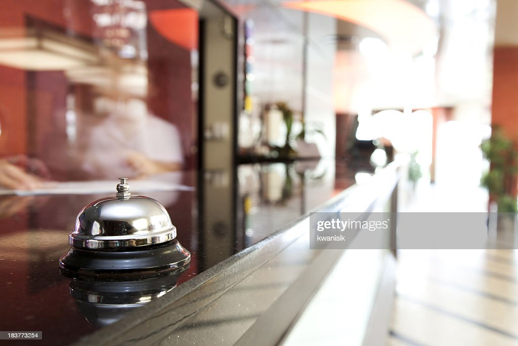 Service bell at an hotel reception