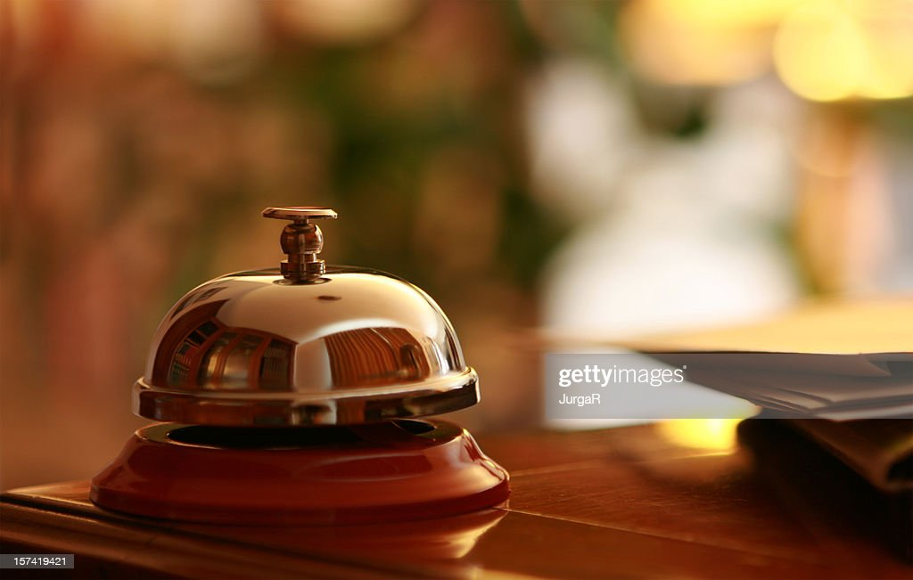 Service Bell in the hotel reception