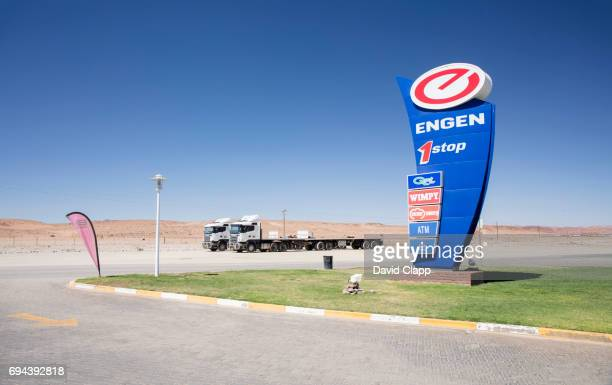 A service station near the border in Namibia