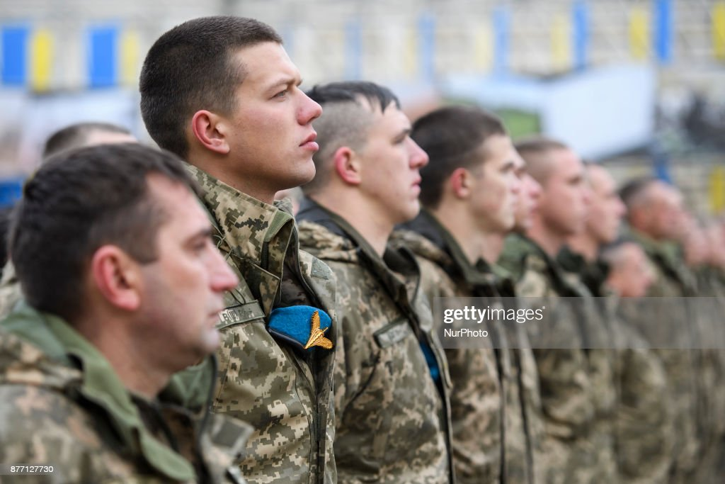 Servicemens of the Ukrainian Air Assault Forces.