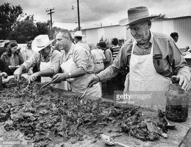 Serving from left are Gene Ward Gordon Korrell EA Lafferty Meat is so tender it can be divided with a fork Credit Denver Post
