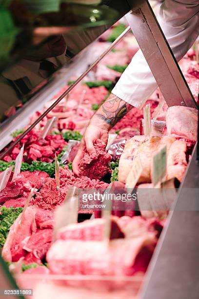 Serving in a Butcher's Shop