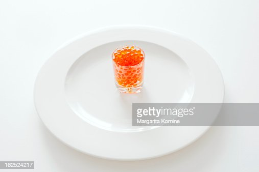 A serving of salmon roe : Stock Photo