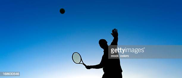 serving tennis