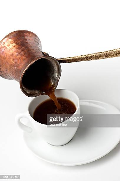 Serving turkish coffee
