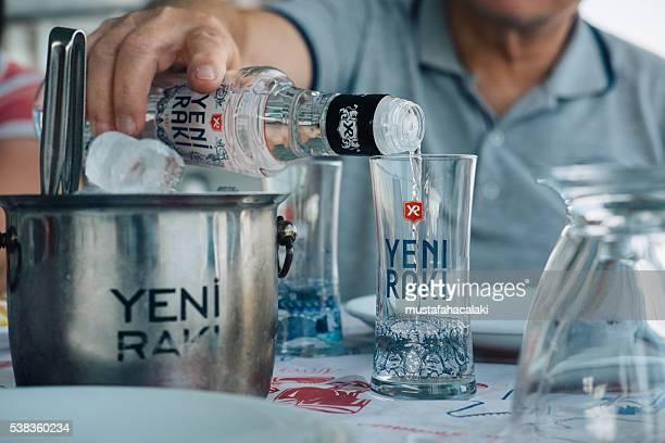 Serving Turkish Raki