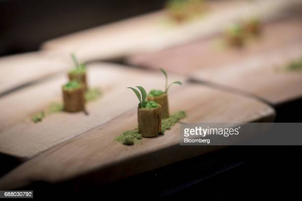 Servings of 'goat brain' sits on a tray in the kitchen of Gaggan restaurant in Bangkok Thailand on Friday May 5 2017 After his restaurant's third...