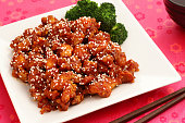 """""""Delicious Chinese food, sesame chicken!"""""""