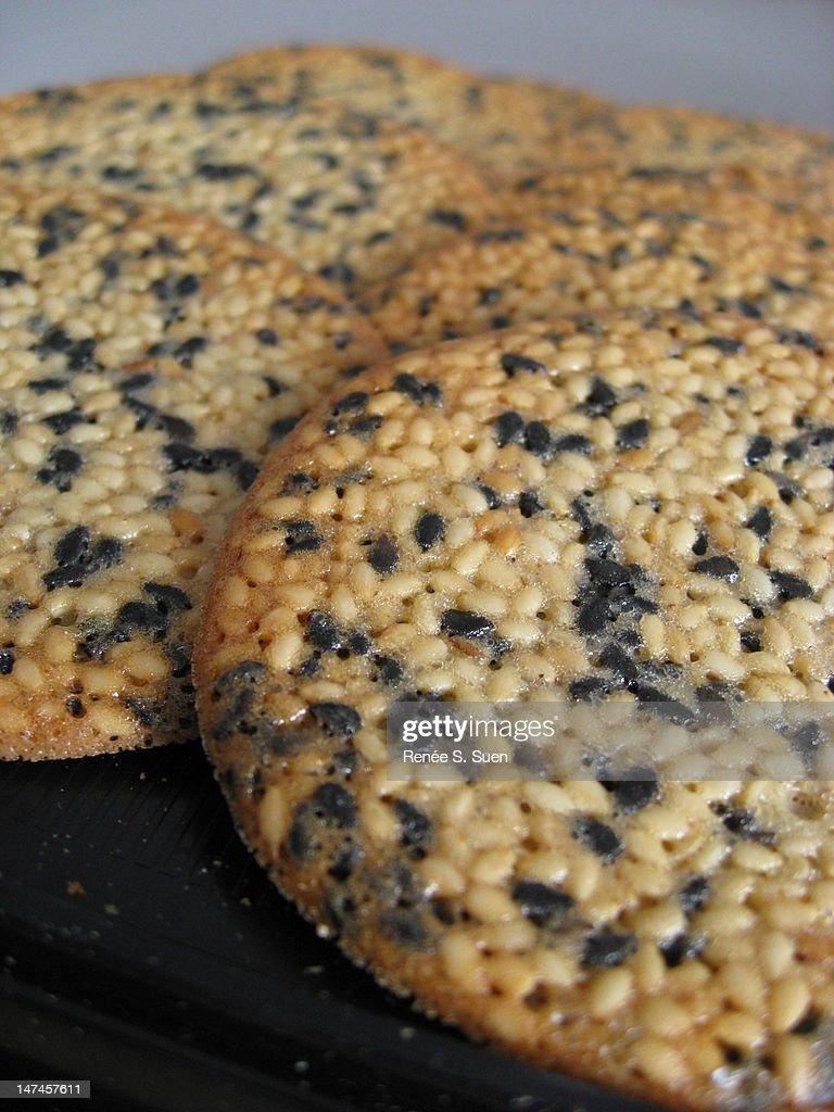 Sesame cookies : Stock Photo