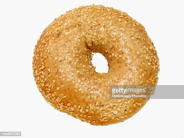 A sesame seed bagel