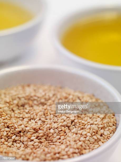 Sesame seeds and oil