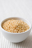 Sesame seeds in a small white bowl. See my portfolio for more...