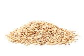 Sesame seeds on white background