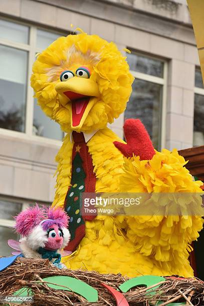 Sesame Street float during the 88th Annual Macy's Thanksgiving Day Parade on November 27 2014 in New York City