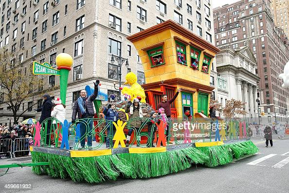 Sesame Street float is seen at the 88th Annual Macys Thanksgiving Day Parade at on November 27 2014 in New York New York