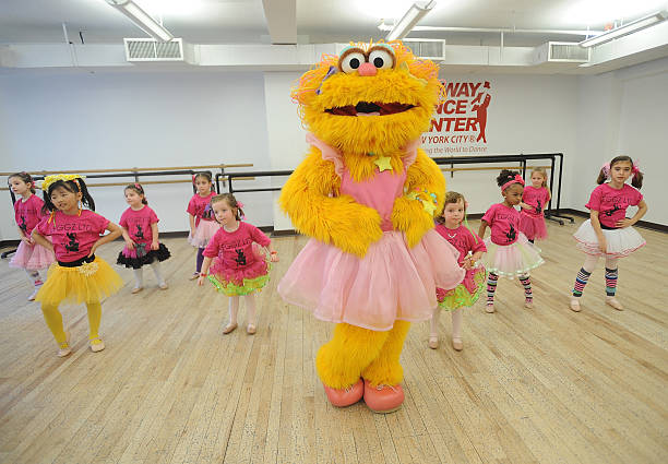 Sesame Street 39 S Zoe Visits The Broadway Dance Center Photos And Images Getty Images