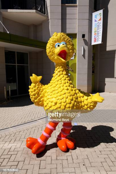 Sesame Street's Big Bird stands outside the National Children's Museum in Oxon Hill Maryland on APRIL 20