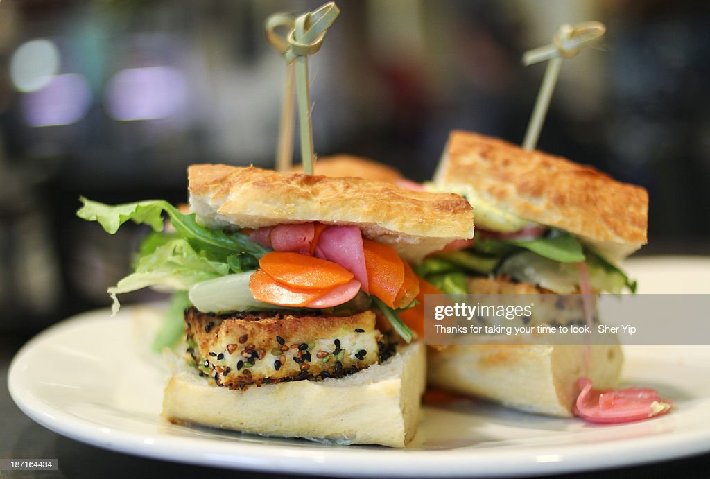 Sesame Tofu Sliders : Stock Photo