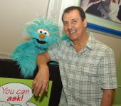 Sesame Workshop's Rosita and Luis during Sesame Workshop and Project Liberty Launch 'You Can Ask' Program to Help Children Cope with Stress Funded by...