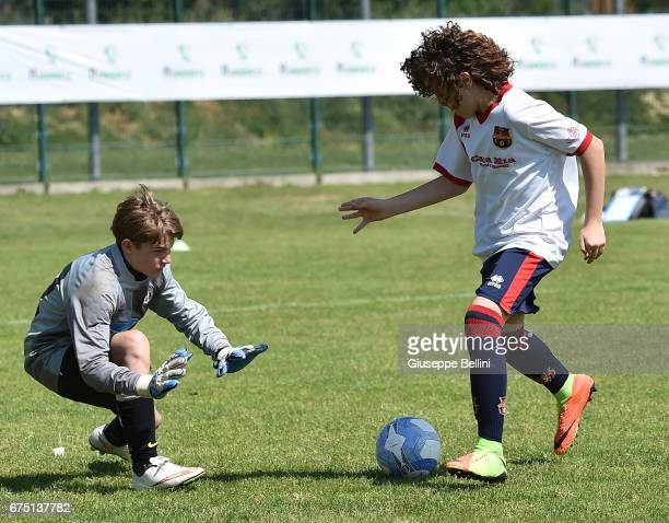 Sestese Calcio SSD play against ASD Juventus Club Parma during Fair Play Elite Danone Nations Cup 2017 in Imola on April 30 2017 in Imola Italy