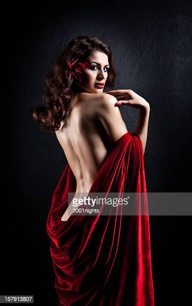 Sesual mulher em vermelho